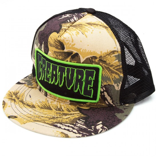 Creature Patch Trucker Hat - Camo/Black