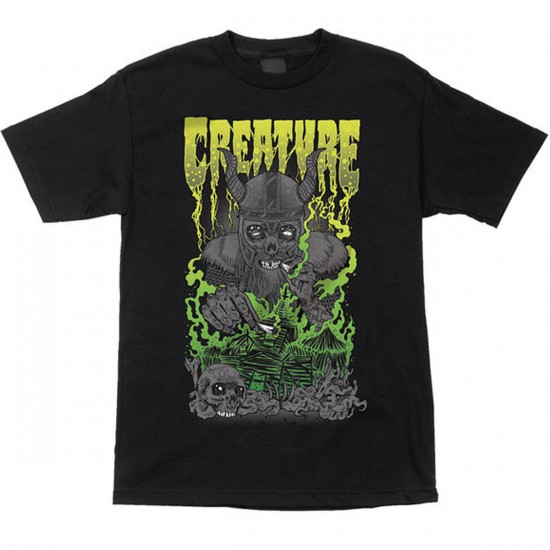 Creature Pillage And Burn T-Shirt - Black