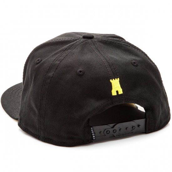 Crooks and Castles Chain C Snapback Hat - Black