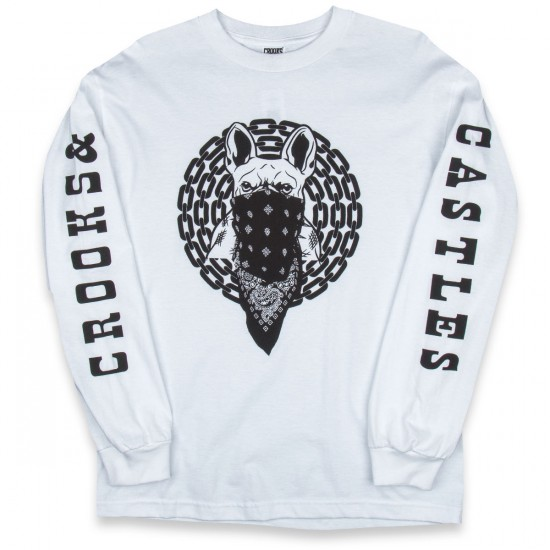 Crooks and Castles French Davis Long Sleeve T-Shirt - White