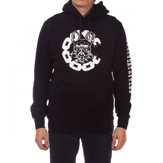 Crooks and Castles French Davis Pullover Hoodie - Black