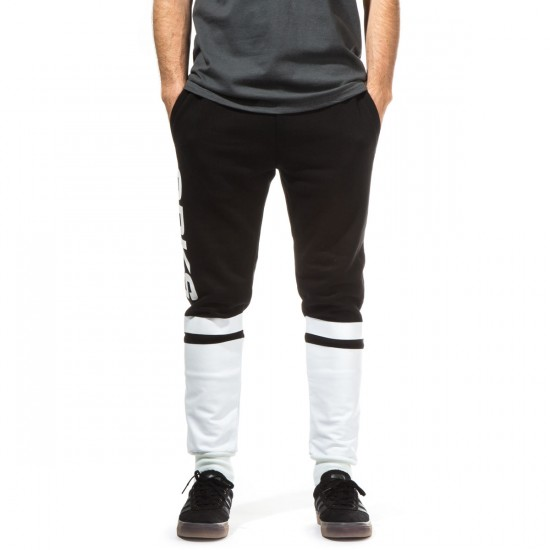 Crooks and Castles Selector Sweat Pants - Black/White - XXL