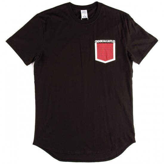 Crooks and Castles Stonewall Pocket T-Shirt - Black