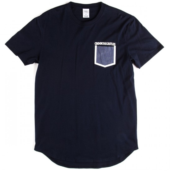 Crooks and Castles Stonewall Pocket T-Shirt - Navy