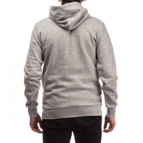 Crooks and Castles Tiger Speckle Logo Pullover Hoodie - Heather Grey