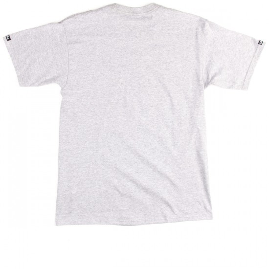 Crooks and Castles Tiger Speckle Logo T-Shirt - Heather Grey