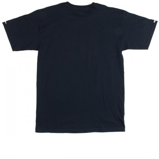 Crooks and Castles Tiger Speckle Logo T-Shirt - Navy