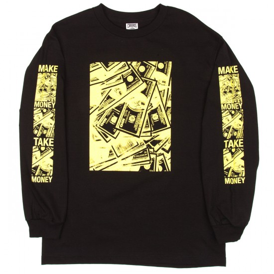 Crooks and Castles Zine Long Sleeve T-Shirt - Black