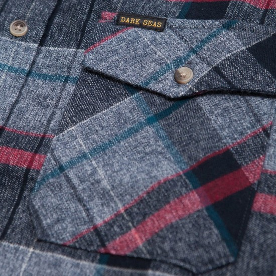 Dark Seas Centreboard Shirt - Navy/Grey