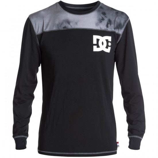 DC DC Top Half Snowboard Base Layer - Anthracite