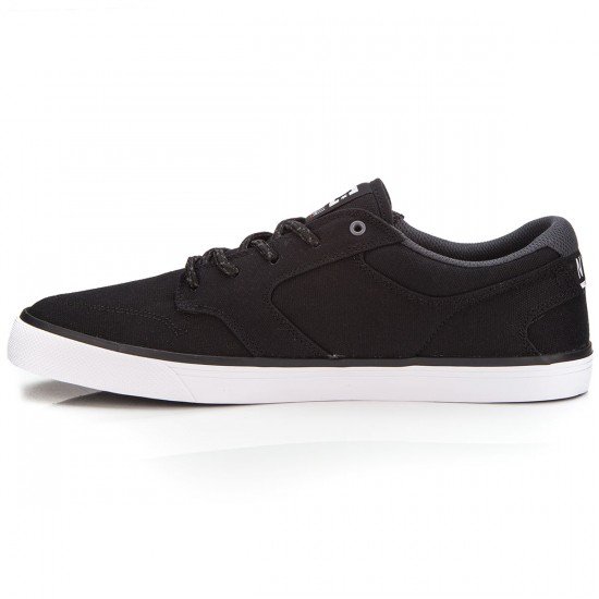 DC Nyjah Vulc TX M Shoe 3BK Shoes - Black/White - 9.0