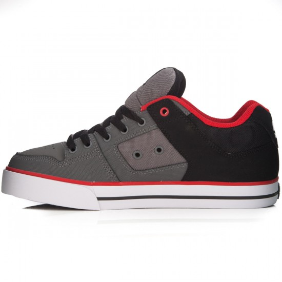 DC Pure Shoes - Black/Grey/Red - 14.0