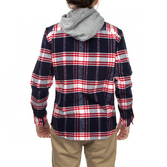 DC Hood Up Long Sleeve Shirt - Blue Iris