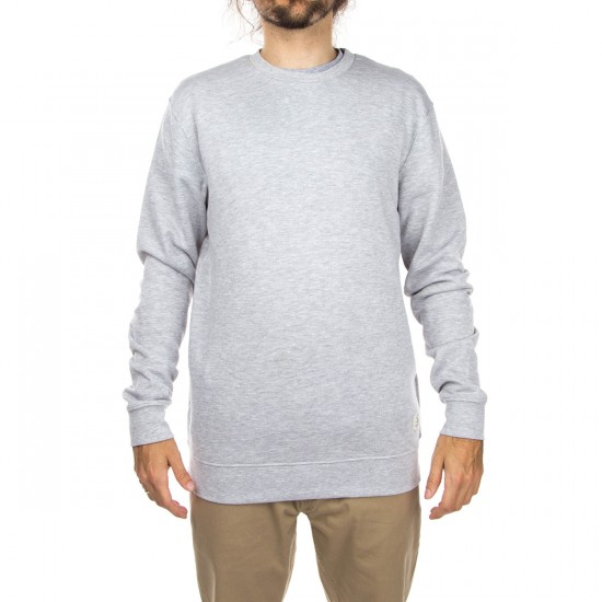 DC Rebel 3 Crew Sweatshirt - Heather Grey