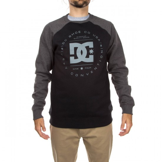 DC Rebuilt Crew Sweatshirt - Heather Charcoal