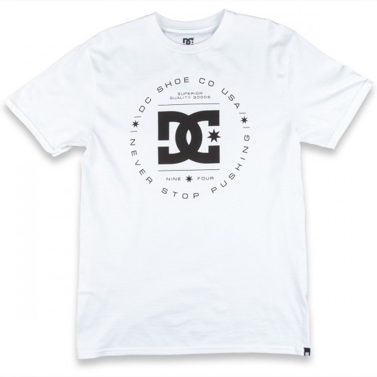 DC Rebuilt Short Sleeve T-Shirt - White