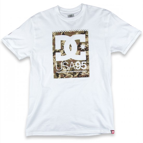DC Red Tab Short Sleeve T-Shirt - White