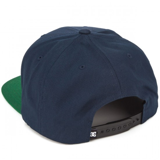 DC Snappy Hat - Blue Iris/Green