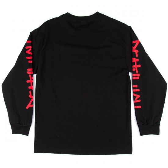 Deathwish Fire Arm Long Sleeve T-Shirt - Black/Red