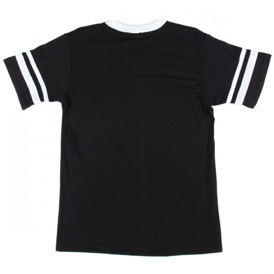 Deathwish Short Stop T-Shirt - Black/White