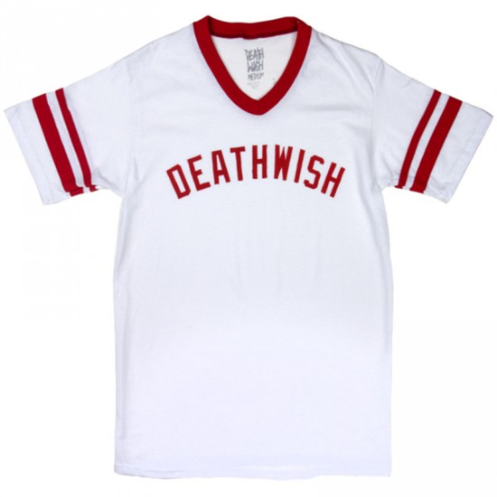 Deathwish Short Stop T-Shirt - White/Red