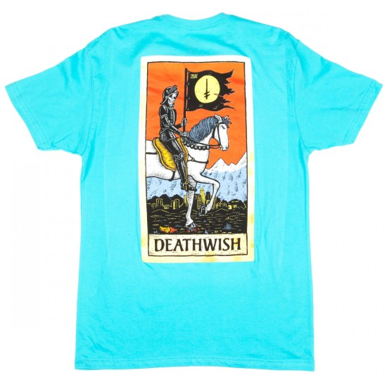 Deathwish Tarot Card T-Shirt - Light Blue