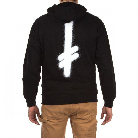 Deathwish Truth Zip-Up Hoodie - Black/White