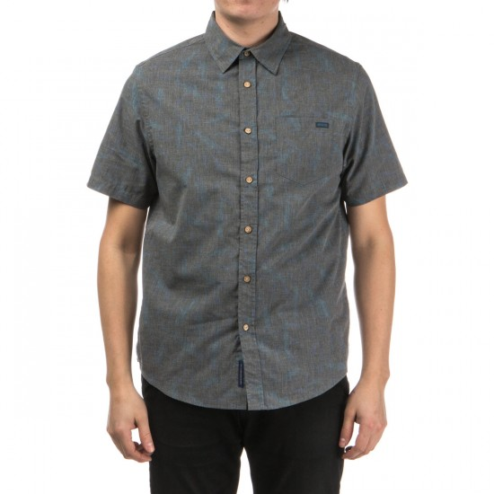 Depactus Leeward Short Sleeve Woven Shirt - Black Fishy Print
