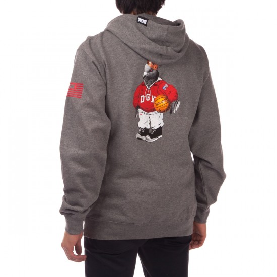 DGK American Icon Fleece Hoodie - Grey Heather
