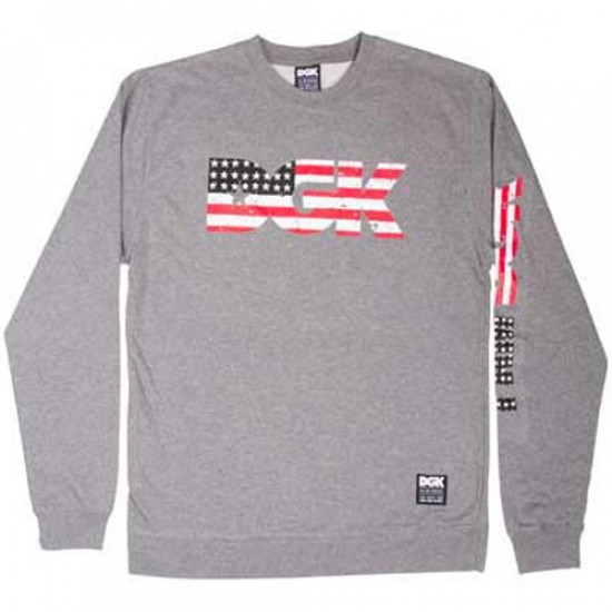 DGK American Nightmare Crew Sweatshirt - Grey Heather