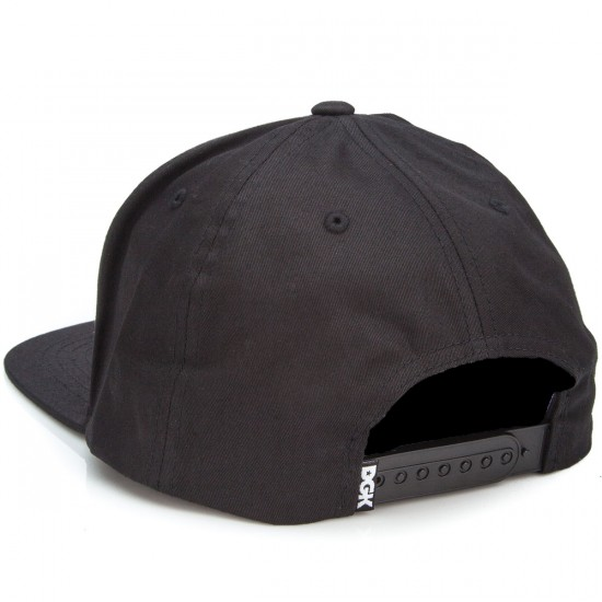 DGK Drop Out Snapback Hat - Black
