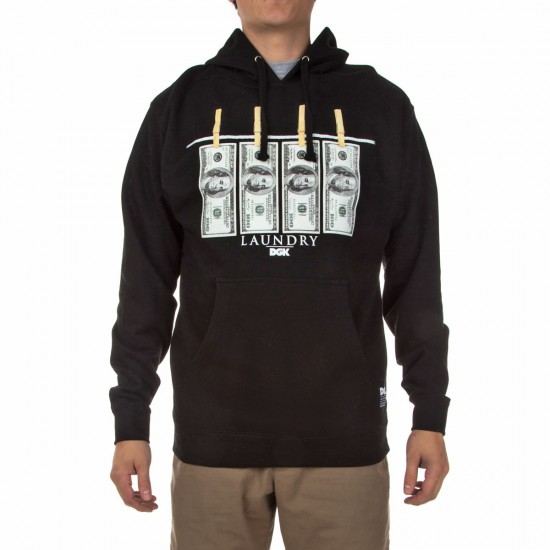 DGK Laundry Fleece Hoodie - Black