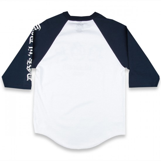 DGK Til Death 3/4 Raglan T-Shirt - White/Navy