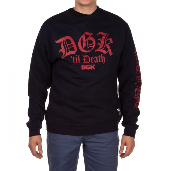 DGK Til Death Crew Fleece Sweatshirt - Navy
