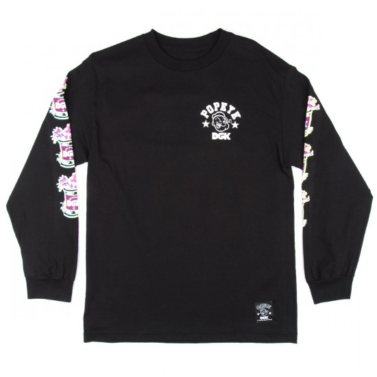 DGK X Popeye It's Only Spinach Long Sleeve T-Shirt - Black