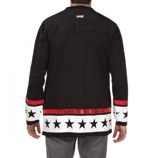 DGK X Popeye Strong To The Finish Hockey Jersey Shirt - Black