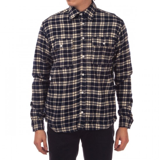 Diamond Supply Co. Baker Flannel Plaid  Shirt - Navy