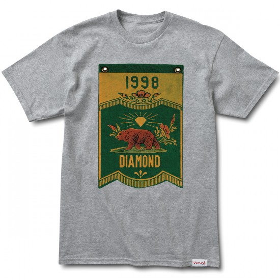 Diamond Supply Co. Diamond Banner x Grizzly T-Shirt - Heather