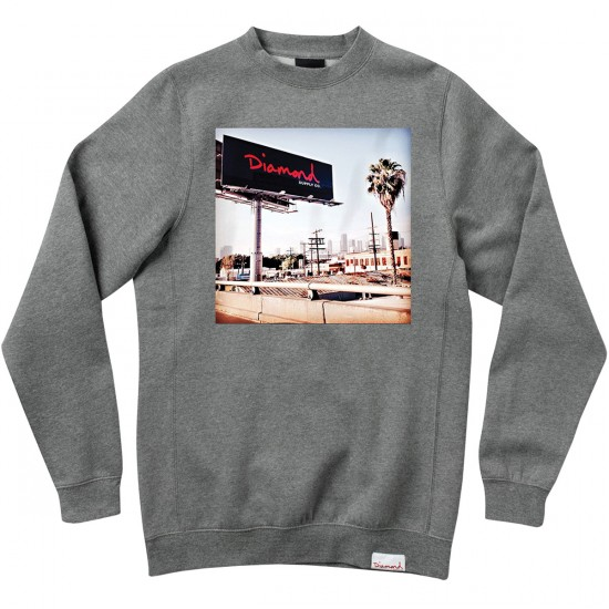 Diamond Supply Co. Billboard Crewneck Sweatshirt - Heather