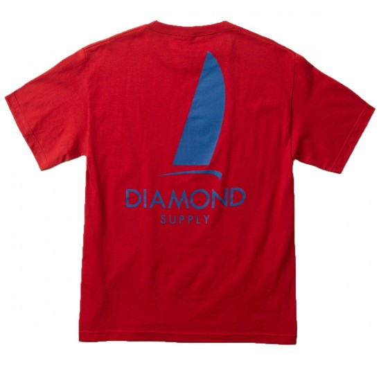 Diamond Supply Co. Boat Life T-Shirt - Red
