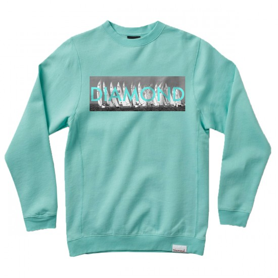 Diamond Supply Co. Boat Line Crewneck Sweatshirt - Diamond Blue