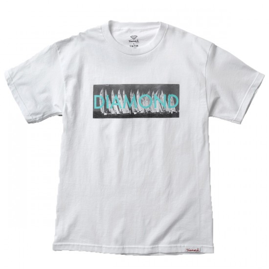 Diamond Supply Co. Boat Line T-Shirt - White