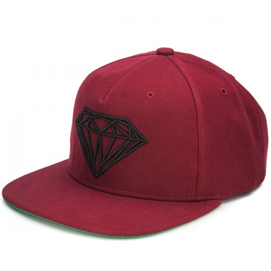 Diamond Supply Co. Brilliant Snapback Hat - Dark Red