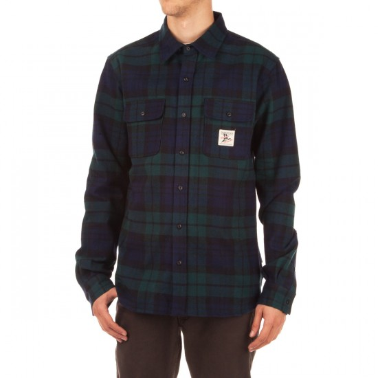 Diamond Supply Co. Caribou Flannel Plaid Shirt - Navy