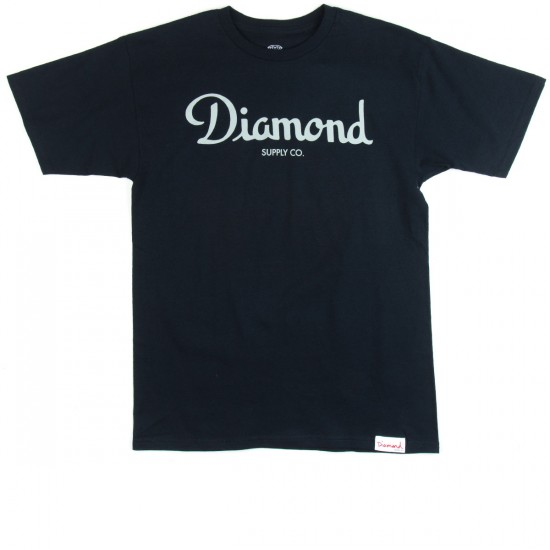 Diamond Supply Co. Champagne Script T-Shirt - Navy