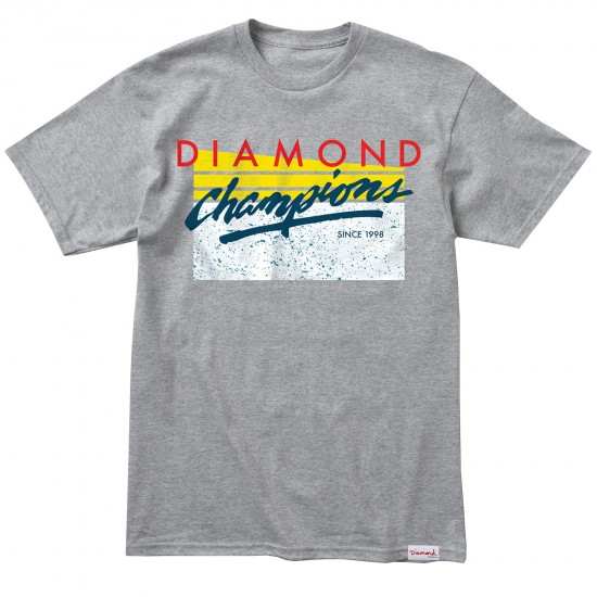 Diamond Supply Co. Champions T-Shirt - Heather Grey