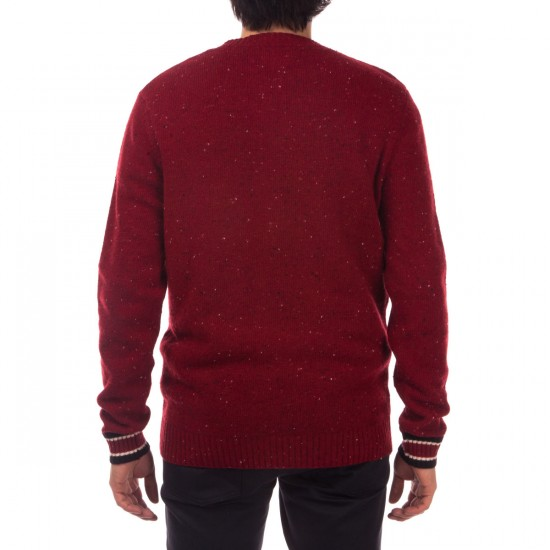 Diamond Supply Co. College Knit Sweater - Burgundy