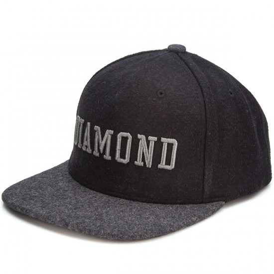 Diamond Supply Co. College Snapback Hat - Black