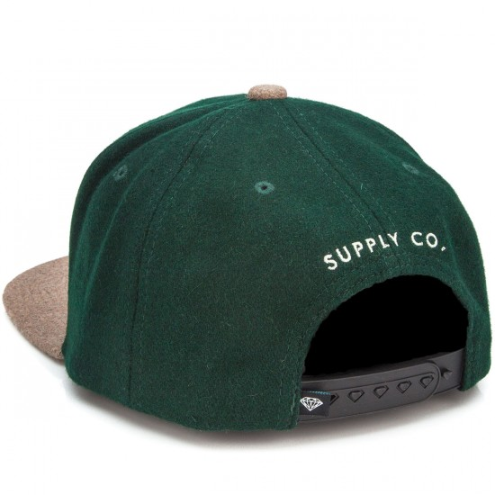 Diamond Supply Co. College Snapback Hat - Green