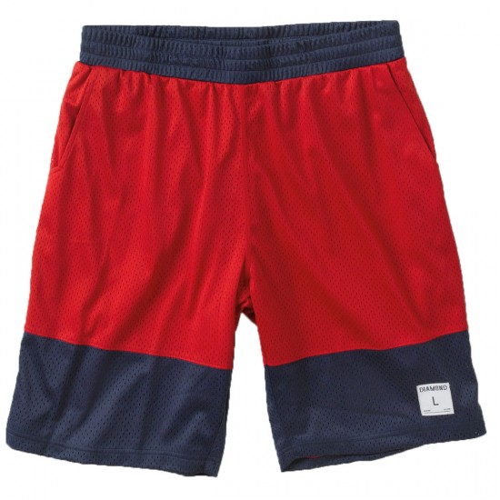 Diamond Supply Co. Diamond Arch Basketball Shorts - Red